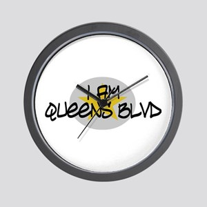 I am Queens Blvd 2 - Gold Wall Clock