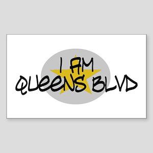 I am Queens Blvd 2 - Gold Rectangle Sticker