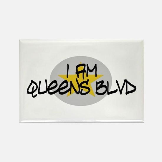 I am Queens Blvd 2 - Gold Rectangle Magnet