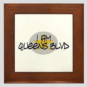 I am Queens Blvd 2 - Gold Framed Tile