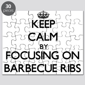 Keep Calm by focusing on Barbecue Ribs Puzzle