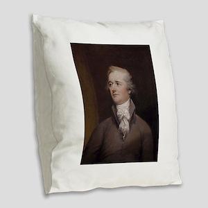 alexander hamilton Burlap Throw Pillow
