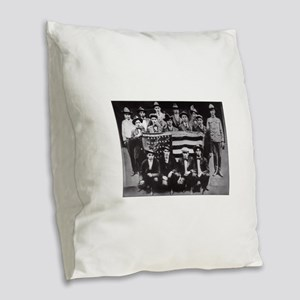 code talkers Burlap Throw Pillow
