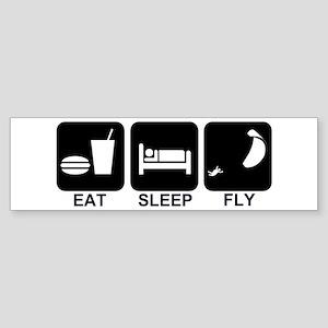 Paraglider Eat Sleep Fly Bumper Sticker