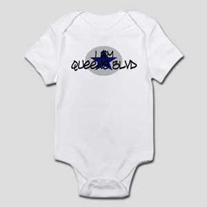 I am Queens Blvd 2 - Blue Infant Bodysuit