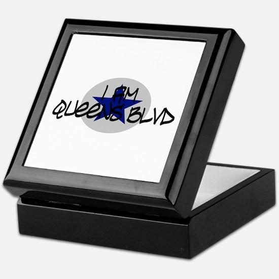 I am Queens Blvd 2 - Blue Keepsake Box