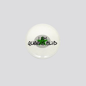 I am Queens Blvd 2 - Grn Mini Button