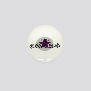 I am Queens Blvd 2 - Prpl Mini Button
