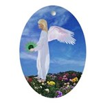 Birthday May Angel : Oval Ornament