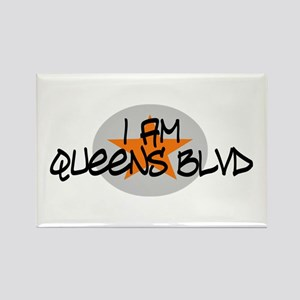 I am Queens Blvd 2 - Orange Rectangle Magnet