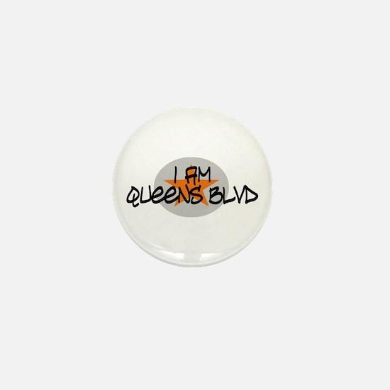 I am Queens Blvd 2 - Orange Mini Button
