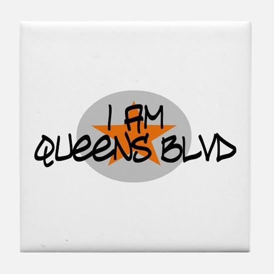 I am Queens Blvd 2 - Orange Tile Coaster