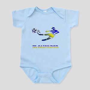 El Salvador Soccer Player Infant Bodysuit