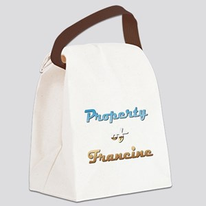 Property Of Francine Female Canvas Lunch Bag