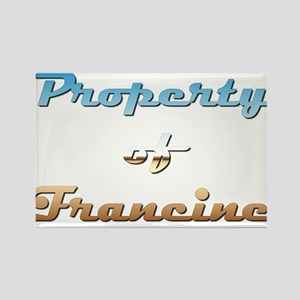 Property Of Francine Female Rectangle Magnet