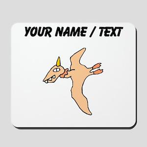 Orange Pterodactyl (Custom) Mousepad
