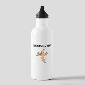 Orange Pterodactyl (Custom) Water Bottle