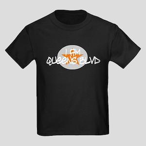 I am Queens Blvd 3 - Orange Kids Dark T-Shirt