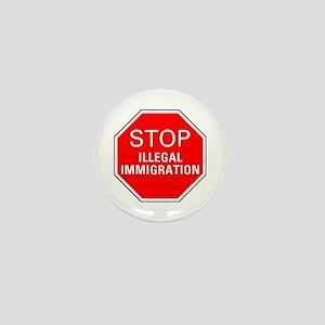 Stop Illegal Immigration Mini Button