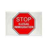 Stop Illegal Immigration Rectangle Magnet