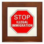 Stop Illegal Immigration Framed Tile