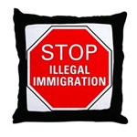 Stop Illegal Immigration Throw Pillow
