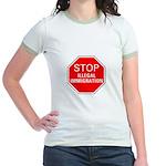 Stop Illegal Immigration Jr. Ringer T-Shirt