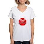 Stop Illegal Immigration Women's V-Neck T-Shirt