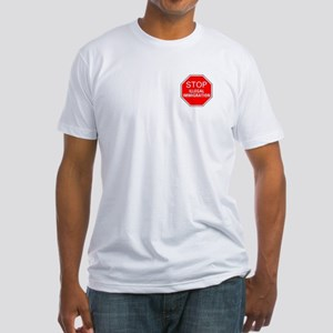 Stop Illegal Immigration Fitted T-Shirt