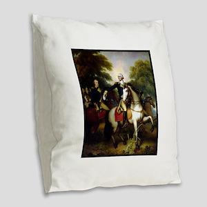 george washington Burlap Throw Pillow