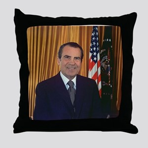 ricjard nixon Throw Pillow