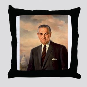 lyndon baines johnsn Throw Pillow