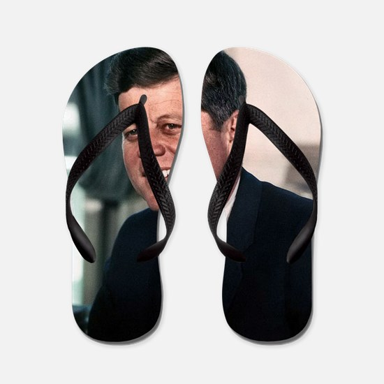 john f kennedy Flip Flops
