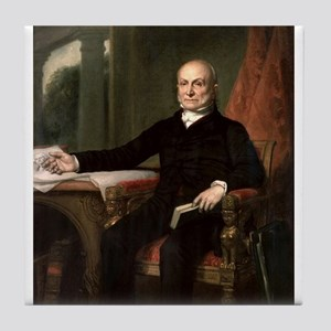 john quincy adams Tile Coaster
