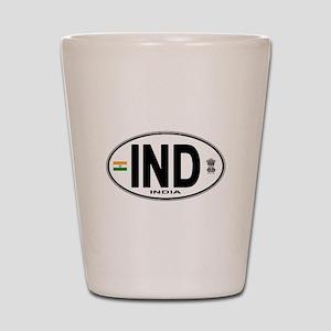 india-euro-oval Shot Glass