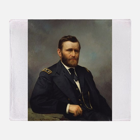 ulysses s grant Throw Blanket