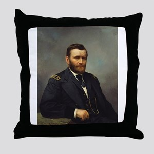 ulysses s grant Throw Pillow