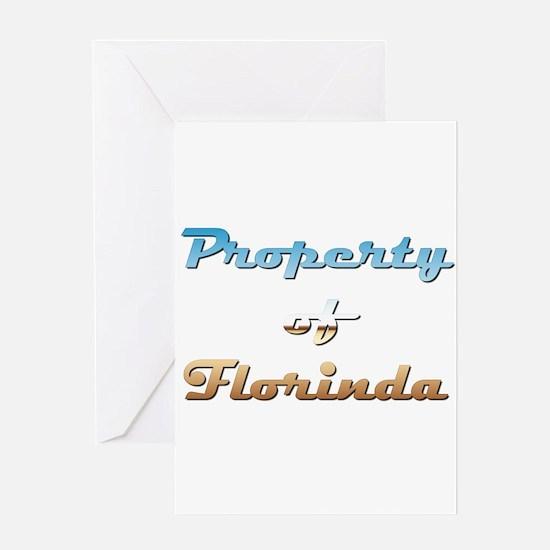 Property Of Florinda Female Greeting Card