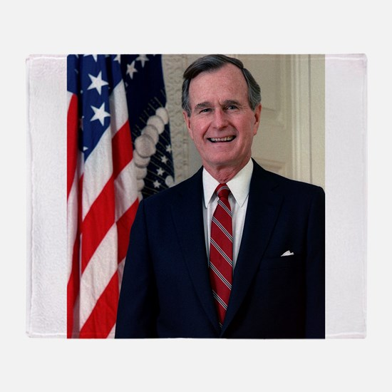 george h w bush Throw Blanket