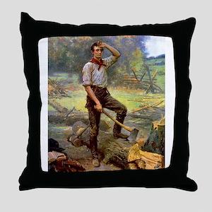 abe lincoln Throw Pillow