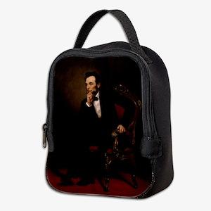 abe lincoln Neoprene Lunch Bag