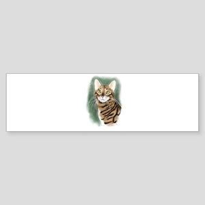 Toyger Head Bumper Sticker