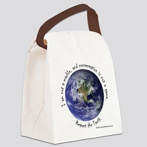 Respect The Earth Canvas Lunch Bag
