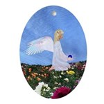 Birthday Sept. Angel : Oval Ornament