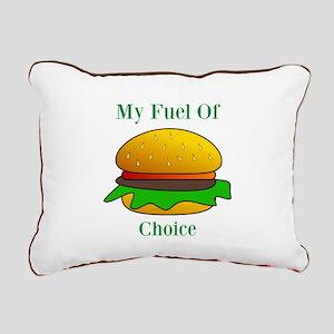 My Fuel Of Choice Rectangular Canvas Pillow