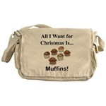 Christmas Muffins Messenger Bag