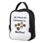 Christmas Muffins Neoprene Lunch Bag