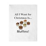 Christmas Muffins Twin Duvet