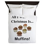Christmas Muffins Queen Duvet
