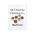 Christmas Muffins 5'x7'Area Rug